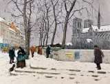 1911 - Notre Dame in the Snow