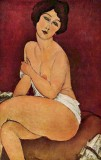 1917 - Nude Sitting on a Divan