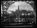 c. 1922 - View thru a balcony