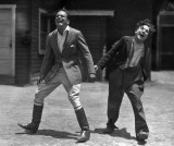c. 1918 - Sharing a laugh off camera