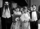 1917 - Eric Campbell, Marta Golden, Edna Purviance, and Charlie Chaplin