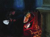 1909 - Gogol burning the manuscript of the second part of Dead Souls