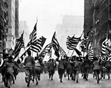 1917 - Boy Scouts charging up 5th Avenue, New York City