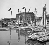 1908 - Oyster and charcoal luggers in the old basin