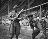 July 21, 1913 - Al Bridwell and Jimmy Archer of the Chicago Cubs
