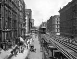 September 1, 1900 - Wabash Avenue north from Adams Street