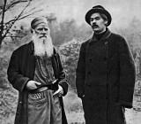 1900 - Leo Tolstoy and Maxim Gorky