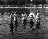 August 1911 - Wading in the Serpentine to cool off