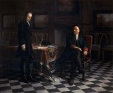 1718 - Peter the Great interrogating his son, the Tsarevich, for treason