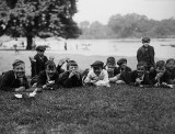 August 1919 - Schoolboys in the park
