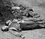 May 20, 1864 - Dead Confederate soldiers gathered for burial