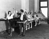 1922 - Russian actor-dancer Theodore Kosloff coaching Paramount Studio chorus girls