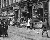 1919 - Butcher's shop looted in a food riot