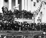 March 4, 1865 - Lincoln delivering his 2nd inaugural address