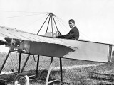 c. 1910 - J. M. Johnson in his flying machine