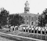 September 1864 - Atlanta town hall with Union camp