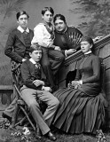 1884 - Mary of Teck with her mother and brothers