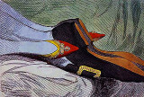 1792 - Fashionable Contrasts Or the Duchess's Little Shoe Yielding to the Duke's Magnificent Foot.