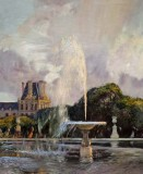 1890 - A Water Fountain in the Tuileries