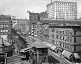 1907 - Wabash Avenue, showing the famous L