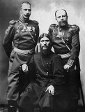 1904 - Grigory Rasputin with Major-General Putyatin and Colonel Lotman