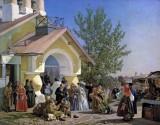 1864 - Leaving church in Pskov