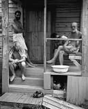 c. 1907 - C.G. Jung and Sigmund Freud outside a sauna