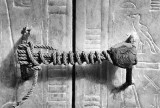 1922 - Unbroken seal on King Tut's tomb