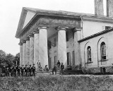1864 - Union soldiers in front of Arlington House