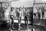 1907 - Eugene Frederik Jansson's studio with models