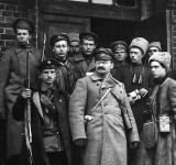 c. 1919 - Leon Trotsky with Red Army soldiers