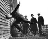 1912 - Testing a football helmet