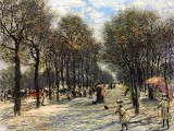 c. 1893 - Lane of Trees on the Champs-Elysees