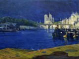 1896 - The Seine, looking toward Notre Dame
