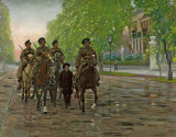 Spring 1906 - Cossack patrol escorting teenage insurrectionists, Warsaw