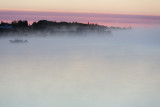 Fog around sunrise 2013 July 7th looking down the Moose River