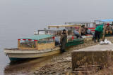 Taxi boats after public docks moved away for winter.