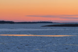 Looking up the Moose River around sunset.