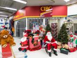 Santa Claus at Northern Store in Moosonee.