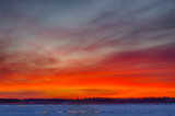Sky before sunrise looking across the Moose River 2014 December 2nd