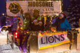Moosonee Lions Club float in Santa Claus Parade.