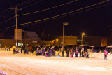 People watching Moosonee Santa Claus Parade