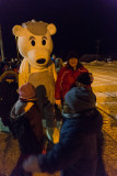Polar Bear mascot at Moosonee train station
