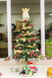 Christmas tree at Moosonee Ontario Northland Railway Station