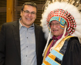 Fort Albany Chief Andrew Solomon with former Chief Edmund Metatawabin