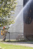 House fire on Wabun Road. Nobody hurt.