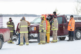 Moosonee Volunteer Firefights respond to reports of person trying to cross the ice