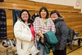 Pauline Sackaney, Liz Williams and Gertie Linklater at Christmas Flea Market