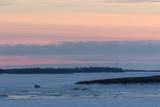 Driving across the Moose River around sunset Christmas Day 2016