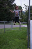 Helen in Playground Near Cabin